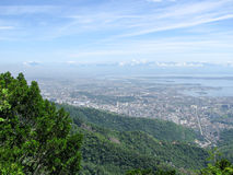 Spectacular panorama and aerial city view of Rio de Janeiro, Brazil Royalty Free Stock Images