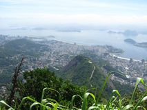Spectacular panorama and aerial city view of Rio de Janeiro, Brazil royalty free stock image