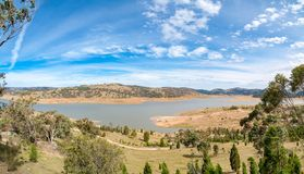 Spectacular panorama landscape of lake Royalty Free Stock Photography