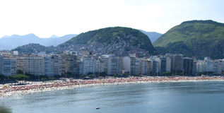 Spectacular panorama of Rio de Janeiro. Spectacular panorama and city view of Rio de Janeiro, Brazil royalty free stock photos