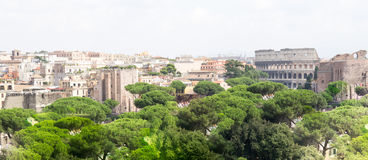Spectacular panorama of Rome, Italy Stock Images