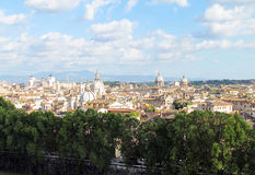 Spectacular panorama of Rome. Picturesque views of the Eternal City - Rome stock photography