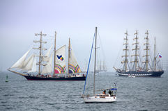 Spectacular Parade of sails Stock Images