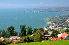 Spectacular picturesque view on Lindau on Lake Bodensee, Germany Stock Photos