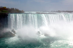 Spectacular power of the fall. Niagra Falls close up photo stock photos