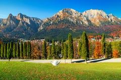 Spectacular Prahova valley in autumn, Busteni, Transylvania, Romania, Europe Royalty Free Stock Photo