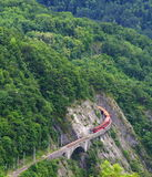 Spectacular railway and train. Near la mure, france Stock Photos