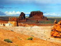 Utah, Red Rocks Hoodoos, Goblin Valley State Park, USA Stock Photography