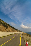 Spectacular road on the mountain in the Carpathian Mountains in Royalty Free Stock Photos