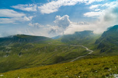 Spectacular road on the mountain in the Carpathian Mountains in Royalty Free Stock Photo