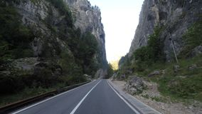 Spectacular road in Romania stock footage