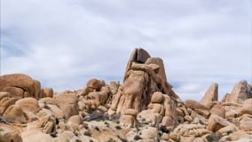 Spectacular Rock Formations at Joshua Tree Time Lapse. Time lapse of Spectacular rock formations at Joshua Tree National Park, California, USA stock video footage