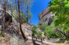 Spectacular Rock Formations at Pinnacles National Park Stock Photo
