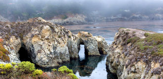 Spectacular Rock Formations at  Point Lobos Stock Photos