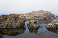 Spectacular Rock Formations at  Point Lobos Royalty Free Stock Image