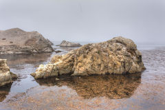 Spectacular Rock Formations at  Point Lobos Royalty Free Stock Photos