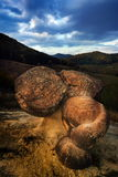 Spectacular rock formations from Ulmet named trovants, located i Stock Images