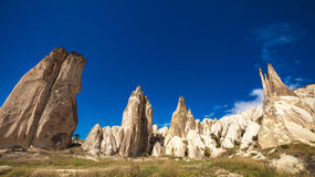 Spectacular rocks formations in Cappadocia Royalty Free Stock Photography