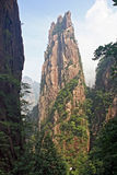 Spectacular rocks and peaks of  Huang Shan Mountains Stock Images