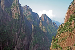 Spectacular rocks and peaks of  Huang Shan Mountains Stock Photo