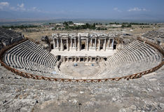 The spectacular Roman Theatre at Hierapolis in Pamukkale in Turkey. Stock Photo