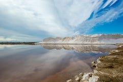 Landscape of the Sanlucar de Barrameda saltworks. royalty free stock photo