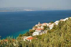 Spectacular Scene Of Village Pisak In Dalmatia, Cr Stock Images