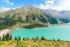 Spectacular scenic Big Almaty Lake , Mountains in Almaty, Kazakhstan,Asia at summer Stock Image