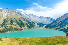 Spectacular scenic Big Almaty Lake ,Tien Shan Mountains in Almaty, Kazakhstan,Asia Royalty Free Stock Image