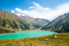Spectacular scenic Big Almaty Lake ,Tien Shan Mountains in Almaty, Kazakhstan,Asia Royalty Free Stock Photo