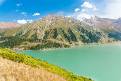 Spectacular scenic Big Almaty Lake ,Tien Shan Mountains in Almaty, Kazakhstan,Asia Stock Images