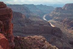 Spectacular Scenic: the Grand Canyon from Guano point, Hualapai Stock Image