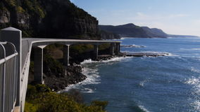 Spectacular sea cliff bridge Royalty Free Stock Images