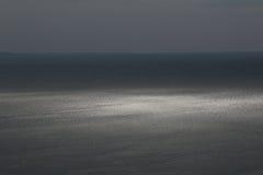 Spectacular sea horizon in dusk Stock Photography