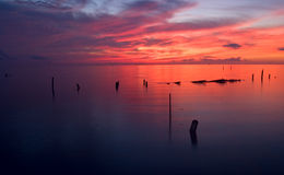 Spectacular Seabrook Sunrise 2. Sunrise over Galveston Bay in Seabrook, Texas Royalty Free Stock Photography