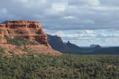 Spectacular Sedona Mountain Late Afternoon. Spectacular Mountains in Autumn in Sedona, Arizona Stock Image