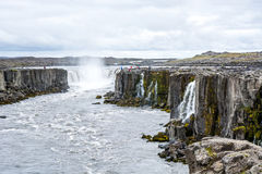 Spectacular Selfoss waterfall in Iceland in summer Royalty Free Stock Image