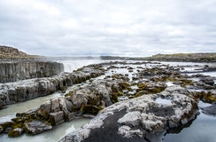 Spectacular Selfoss waterfall in Iceland in summer Stock Images