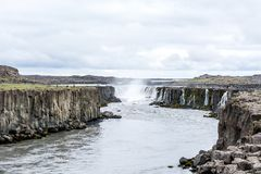 Spectacular Selfoss waterfall in Iceland in summer Royalty Free Stock Photography