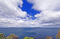 Spectacular Skies from an Ocean Viewpoint Stock Images