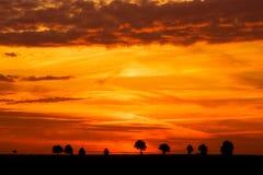 Spectacular sky after sunset.landscape Royalty Free Stock Image