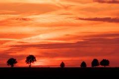 Spectacular sky after sunset.landscape Royalty Free Stock Images