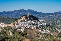 Montefrio in the Granada region of Andalusia in Spain royalty free stock images