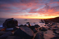 Spectacular Sunrise from Kellys Point  Beach Royalty Free Stock Images