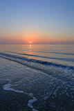 A spectacular sunrise over the sea. A spectacular sunrise over sea at the beginning of a day Stock Photography