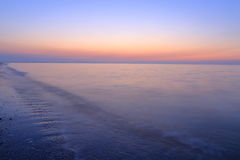 A spectacular sunrise over the sea. A spectacular sunrise over sea at the beginning of a day Stock Image