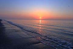 A spectacular sunrise over the sea. Royalty Free Stock Photo