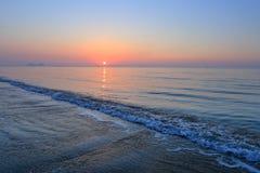 A spectacular sunrise over the sea. A spectacular sunrise over sea at the beginning of a day Stock Photos