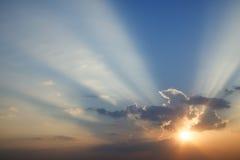 Spectacular sunset. Royalty Free Stock Image