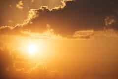 Spectacular sunset. Stock Image